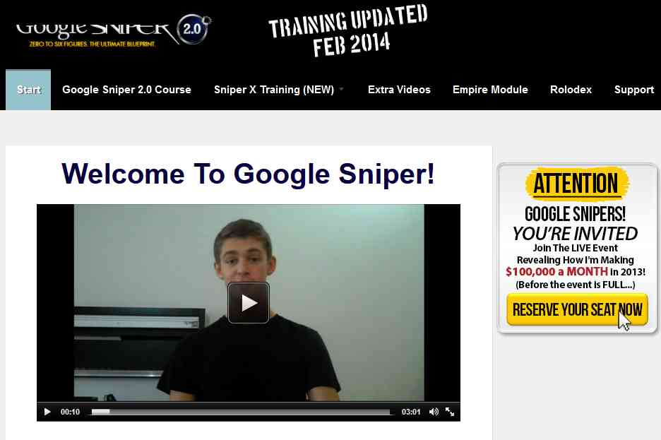 Google Sniper 2 Review 2014