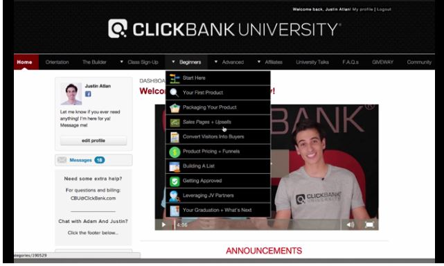 Clickbank University Members Area