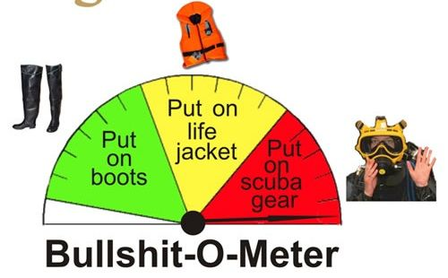 POOFness for FEB 1: GOOD WEEK (To SUCKER More Gullible Out of Donation Money) Bullshit-meter