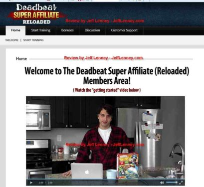 Deadbeat Super Affiliate Review and Members Area Tour