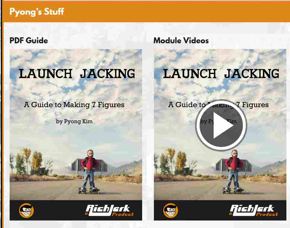 The Rich Jerk, Launch Jacking Module with Pyong