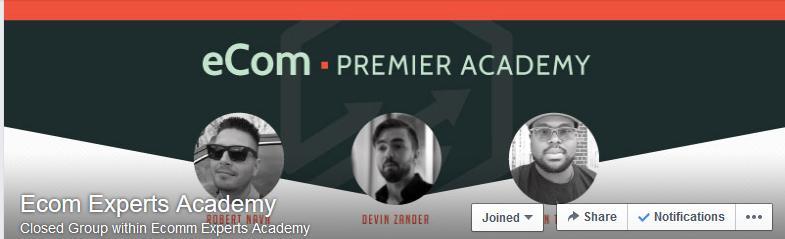 eCom Premier Academy Facebook Mastermind