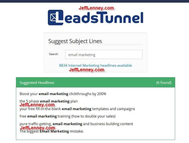 LeadsTunnel Headliner