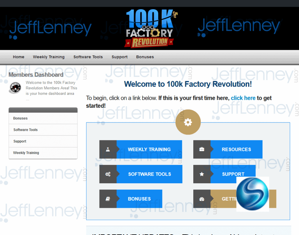 100k Factory Revolution Members Area