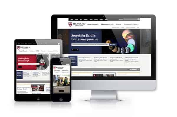 Harvard's Responsive Website