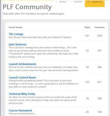 Product Launch Formula Community