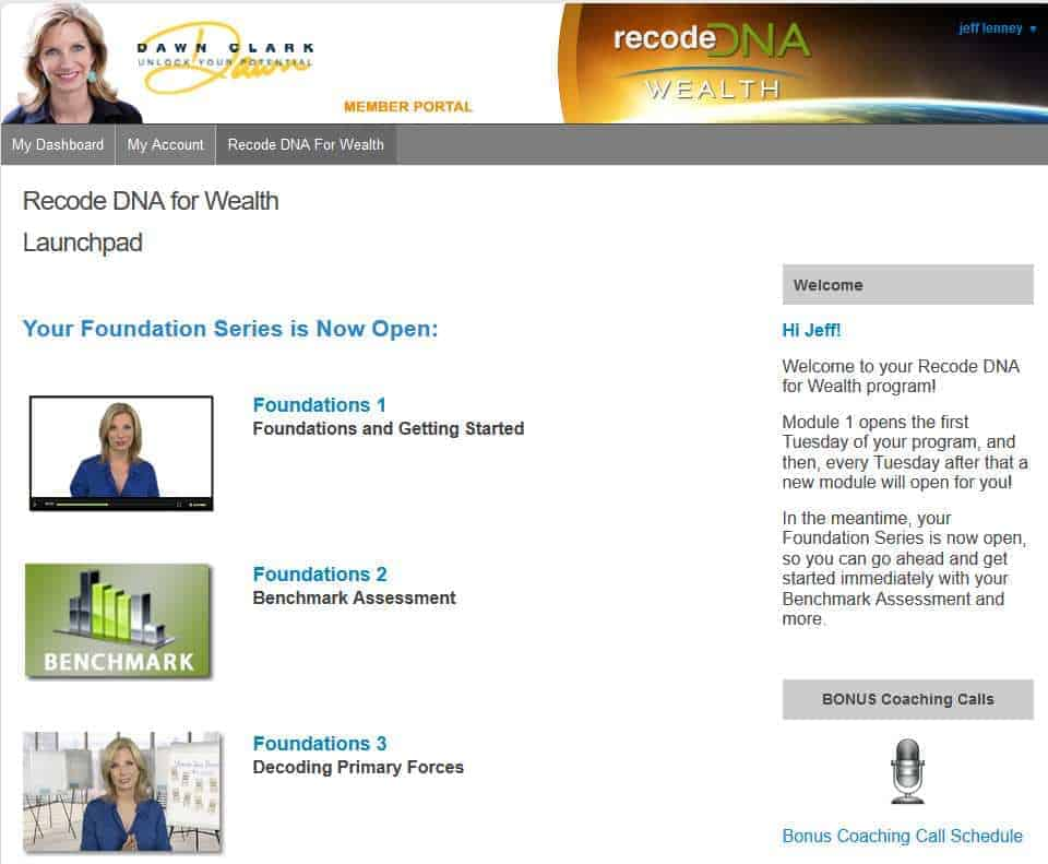 Recode DNA For Wealth Members Area