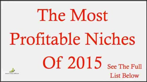 Most Profitable Niches for 2016