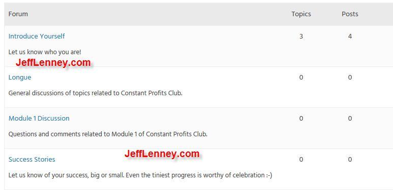 Constant Profits Club Forum