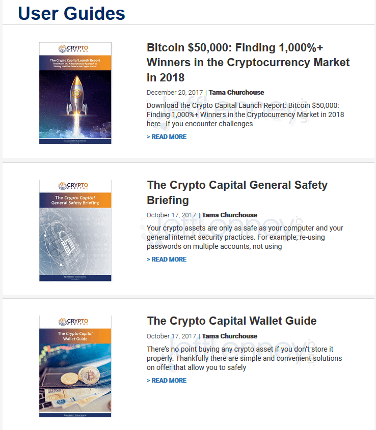 Crypto Capital User Guides