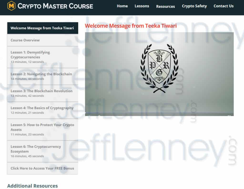 Crypto Master Course Members Area