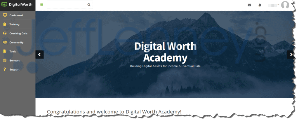 Digital Worth Academy Members Area