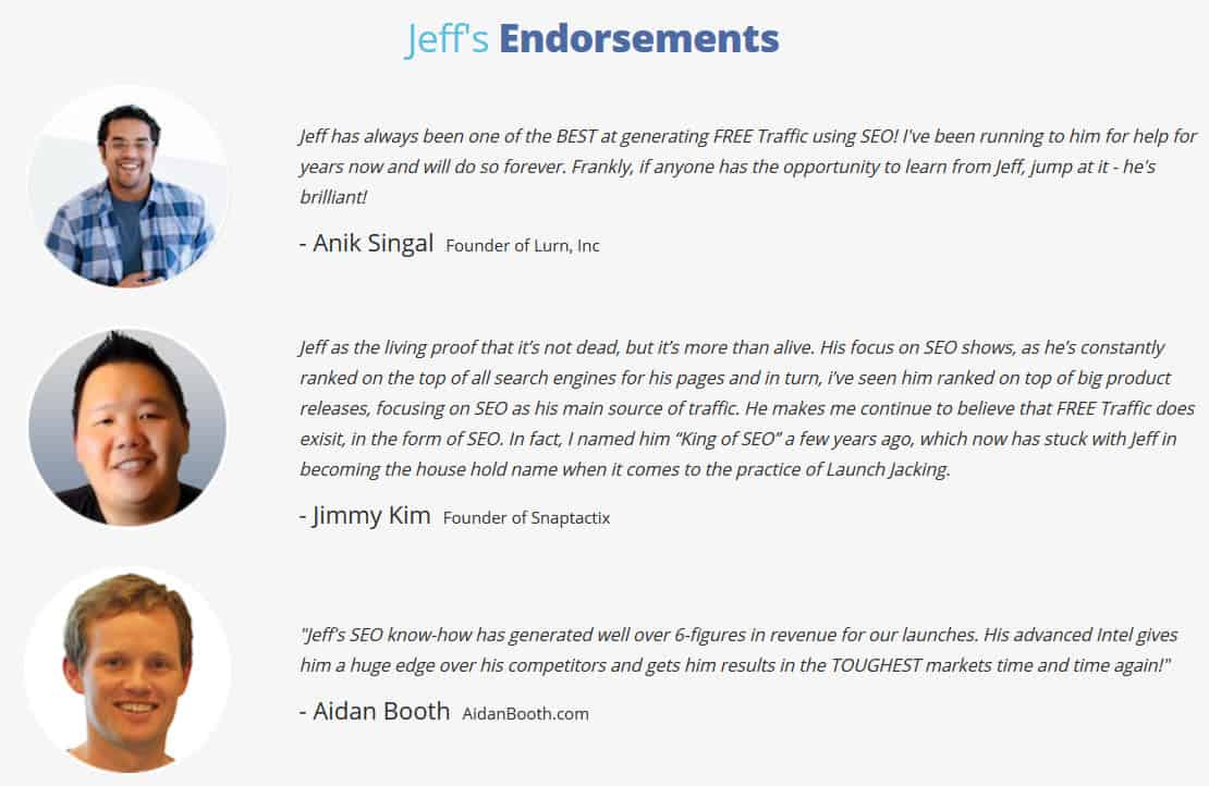 Jeff Lenney's Endorsements