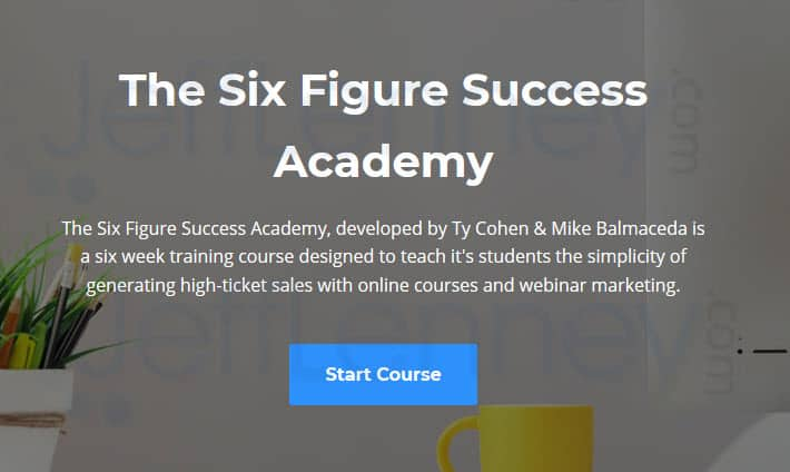 Course Creation Six Figure Success Academy   Price N Specification