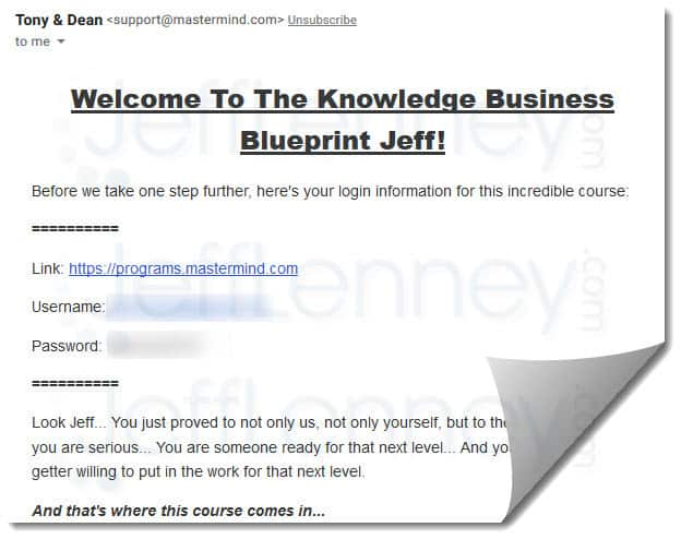 Knowledge Broker Blueprint New Members Welcome Email