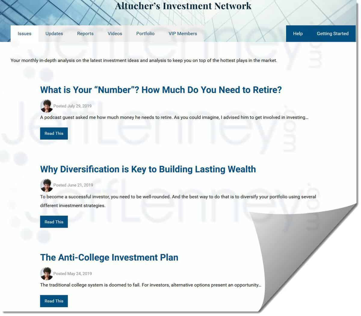 The Monthly Newsletter Issues