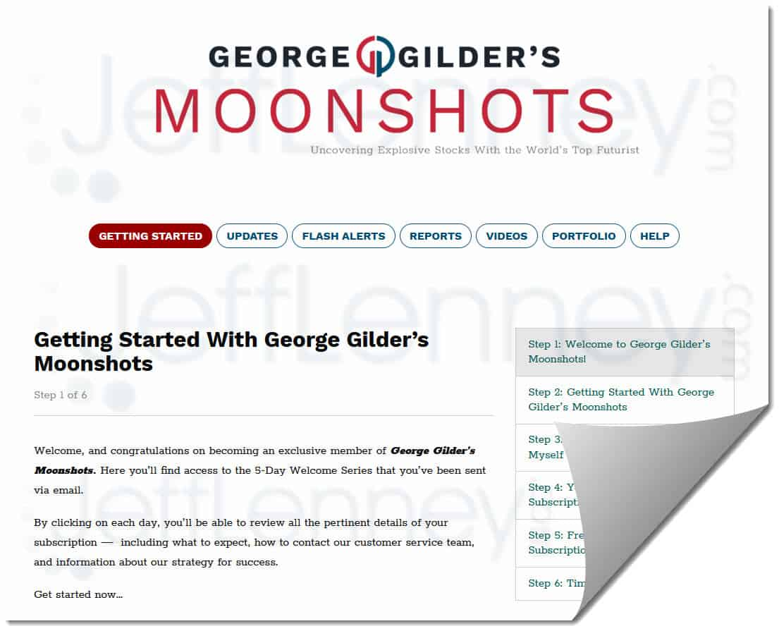 George Gilder's Moonshots Members Area