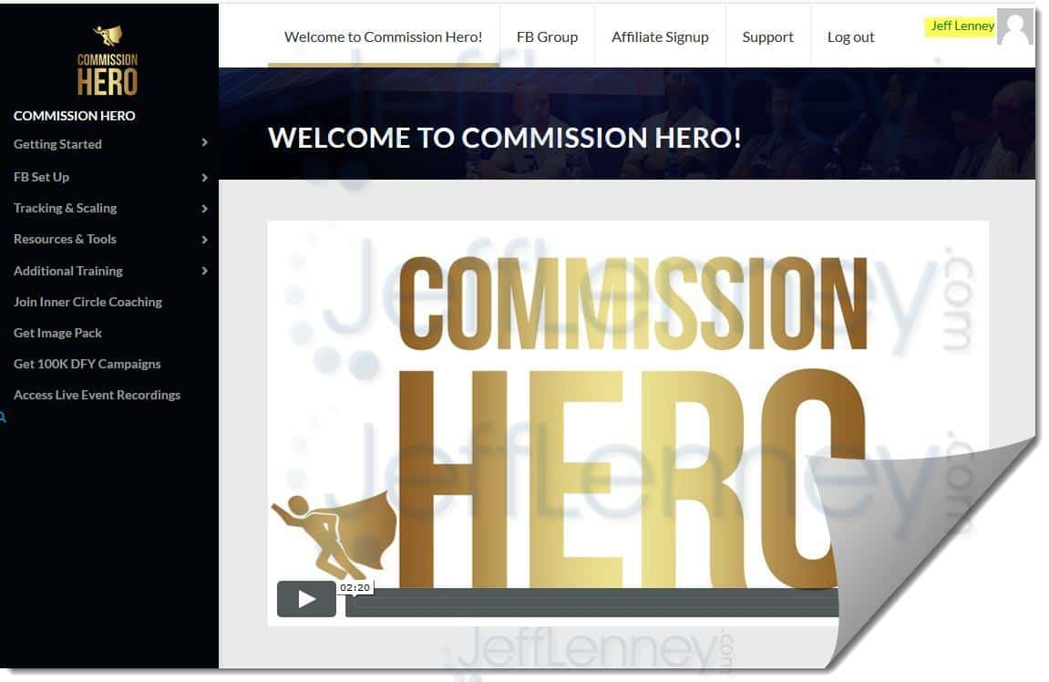 Commission Hero Members Area