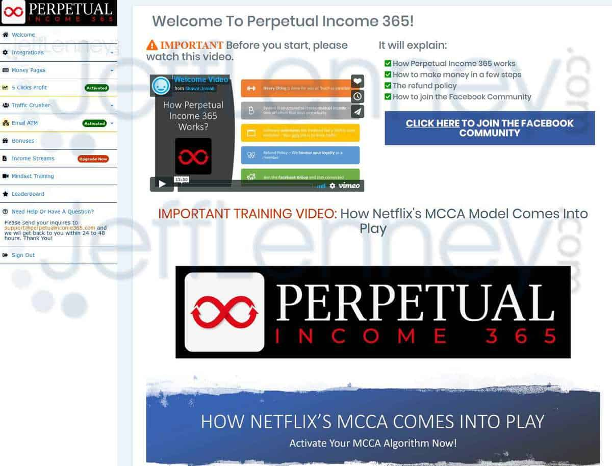 Perpetual Income 365 Members Area