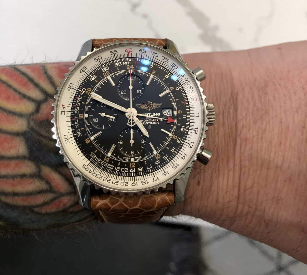 My Brietling Navitimer World, 2015 (Sharing this in my Commission Hero review)