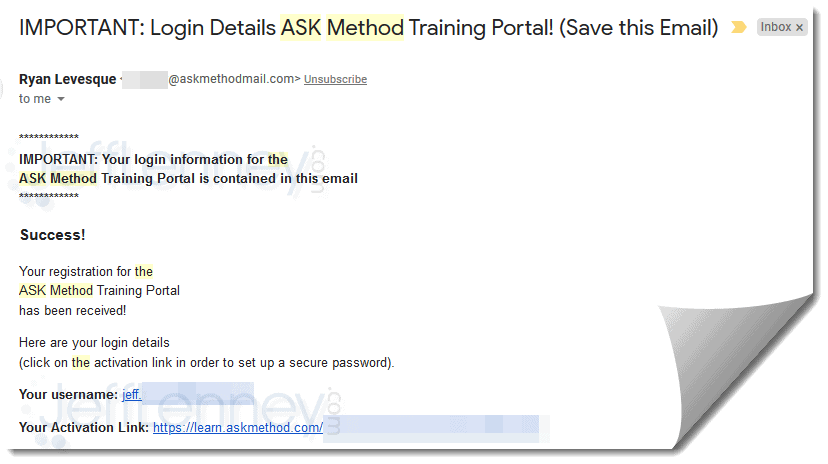 The Ask Method Masterclass Review
