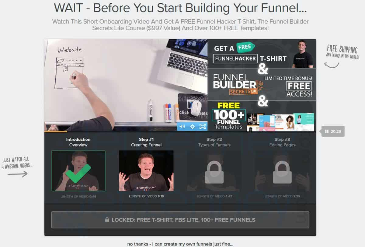 Clickfunnels On-Boarding Video Training