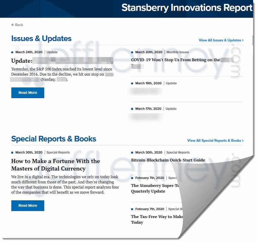 Stansberry Innovations Report Review (Porter Stansberry)