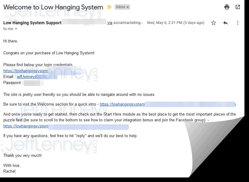 Low Hanging System Registration