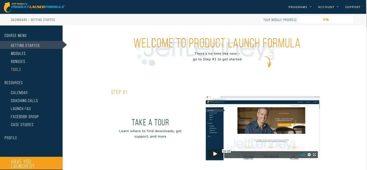 Product Launch Formula 2020 - Getting Started