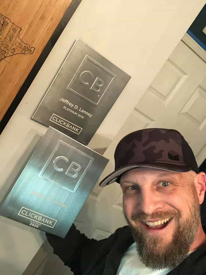 Jeff Lenney, CLickbank Platinum, 2020
